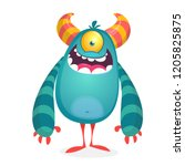 vector cute caroon alien.... | Shutterstock .eps vector #1205825875