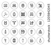 barrel icon set. collection of...   Shutterstock .eps vector #1205842045