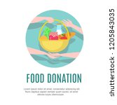 food donation design template.... | Shutterstock .eps vector #1205843035