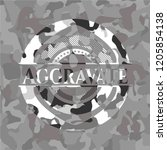 aggravate grey camouflage emblem | Shutterstock .eps vector #1205854138