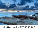 sensational sunrise seascape  ... | Shutterstock . vector #1205855542