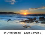 sunrise seascape   killcare... | Shutterstock . vector #1205859058
