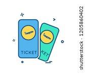 travel icon design vector | Shutterstock .eps vector #1205860402