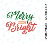merry and bright.  merry... | Shutterstock .eps vector #1205861515