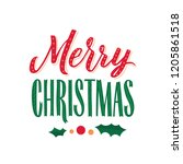 merry christmas text design.... | Shutterstock .eps vector #1205861518