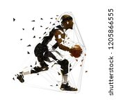 basketball player running with... | Shutterstock .eps vector #1205866555