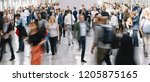 large crowd of anonymous... | Shutterstock . vector #1205875165