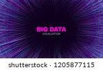 futuristic portal concept. big... | Shutterstock .eps vector #1205877115