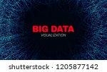 big data stream visualization.... | Shutterstock .eps vector #1205877142