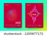flyer of electronic music.... | Shutterstock .eps vector #1205877172