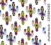 mexican seamless pattern with... | Shutterstock .eps vector #1205884282