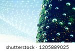 abstract  christmas tree ... | Shutterstock . vector #1205889025