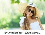 portrait of smiling beautiful... | Shutterstock . vector #120588982