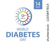 world diabetes day  abstract... | Shutterstock .eps vector #1205897815