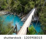bridge over the turquoise... | Shutterstock . vector #1205908315