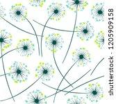 dandelion blowing plant vector...   Shutterstock .eps vector #1205909158