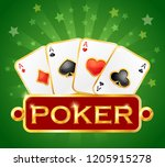 playing card. casino icons.... | Shutterstock .eps vector #1205915278