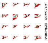 lebanese flag  vector...   Shutterstock .eps vector #1205919175