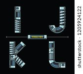 vector graphic alphabet in a... | Shutterstock .eps vector #1205924122