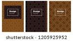 dark orange vector layout for... | Shutterstock .eps vector #1205925952