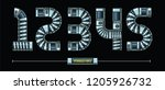 vector graphic numbers in a set ...   Shutterstock .eps vector #1205926732