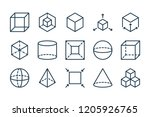 3d modeling related line icon... | Shutterstock .eps vector #1205926765