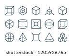 3d modeling related line icon...   Shutterstock .eps vector #1205926765