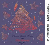 christmas greeting card with... | Shutterstock .eps vector #1205926882