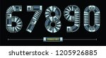vector graphic numbers in a set ...   Shutterstock .eps vector #1205926885
