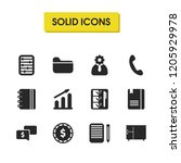 work icons set with money chat  ...