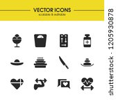 lifestyle icons set with heart...