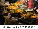 traditional food exposed in... | Shutterstock . vector #1205932312