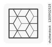 cube floor pattern vector icon. ... | Shutterstock .eps vector #1205932525