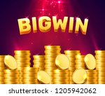 big win casino signboard  game... | Shutterstock .eps vector #1205942062