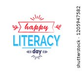happy literacy day bright icon... | Shutterstock . vector #1205947582