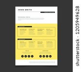 cv form template. professional... | Shutterstock .eps vector #1205949628