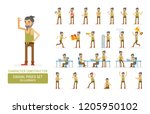 vector young adult hipster man...   Shutterstock .eps vector #1205950102