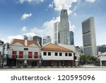 Old And Modern Buildings In...