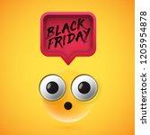 high detailed wondering emoji... | Shutterstock .eps vector #1205954878