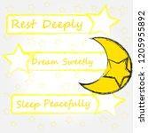 rest deeply.dream sweetly.sleep ...   Shutterstock .eps vector #1205955892