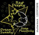 rest deeply.dream sweetly.sleep ...   Shutterstock .eps vector #1205955898
