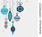 christmas decorations balls.... | Shutterstock .eps vector #1205960215