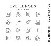set line icons of contact lenses | Shutterstock .eps vector #1205968408