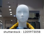 head of a white mannequin at... | Shutterstock . vector #1205973058