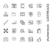 collection of 25 interface... | Shutterstock .eps vector #1205981632