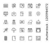collection of 25 mobile outline ... | Shutterstock .eps vector #1205984572