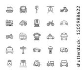 collection of 25 vehicle... | Shutterstock .eps vector #1205988622