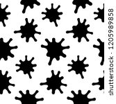 splashes seamless pattern on a ... | Shutterstock . vector #1205989858