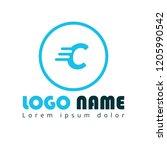 letter c logo concept | Shutterstock .eps vector #1205990542