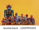vintage tin robot toys isolated ... | Shutterstock . vector #1205994505
